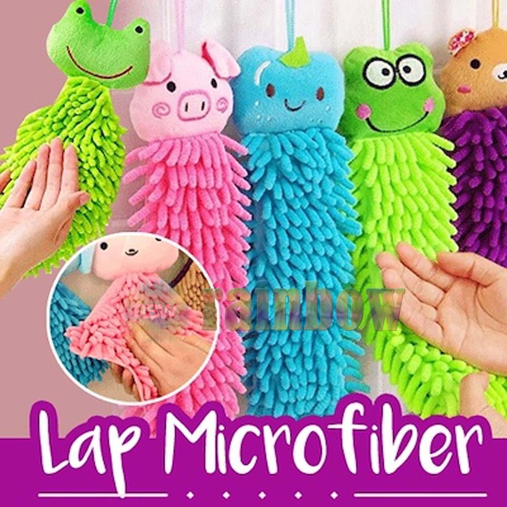 Warna dan Karakter Random - Lap Tangan Mikro Fiber Cendol Karakter Lucu Wipe Hands Character LapTangan