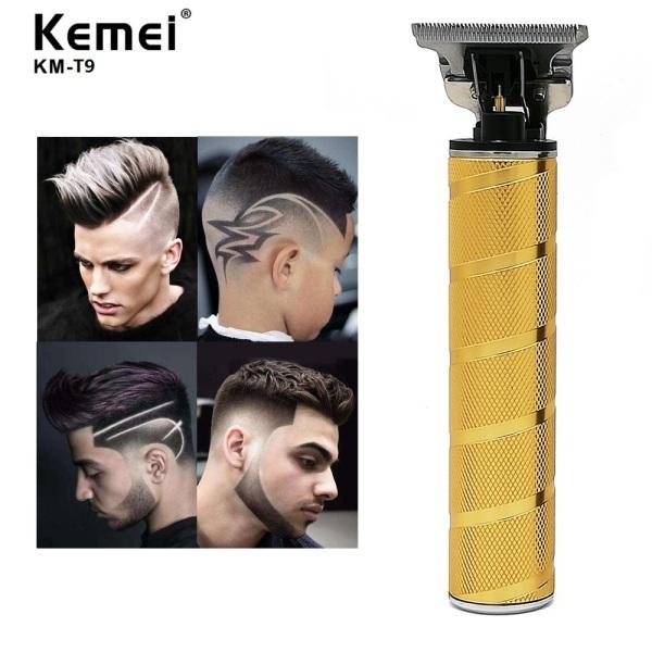 Qooiu Kemei T9 Li T-Outliner Barber Shop Electric Professional Cordless Hair Trimmer Men 0mm Baldheaded Hair Clipper Hair Cutting Machine