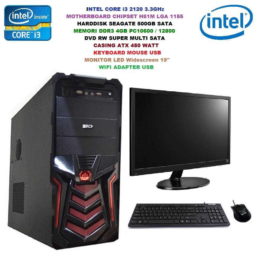 Harga Promo Tahun Baru Komputer Rakitan Komplit Intel Core I3 2120 3.3ghz - Memori Ram 4gb - Harddisk 500gb - Led Widescreen 19 Inch - Wifi By Ranah Komputer.