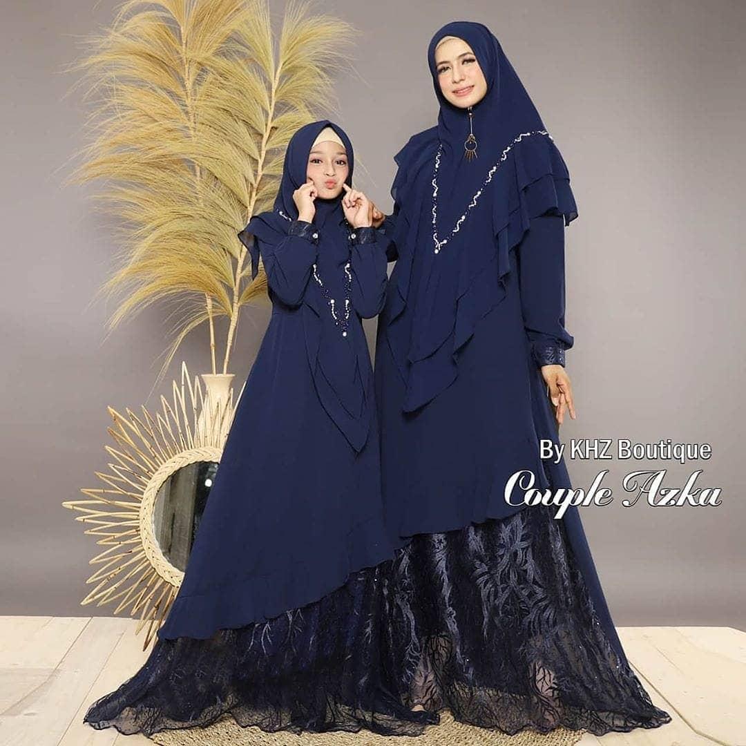 Baju Couple Murah / Gamis Couple Azka / Baju Ibu Dan Anak / Gamis Couple  Ibu dan anak Terbaru / Gamis Brokat Couple / Gamis Pesta