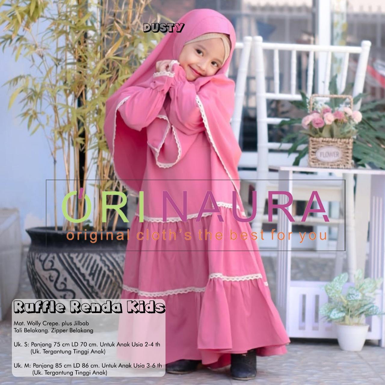 Rufle Renda Kids Usia 11 - 11 Tahun Baju Muslim Anak Perempuan Terbaru Baju  Anak Perempuan Umur 11 Tahun Baju Anak Kecil  Pola Dress Anak  Baju