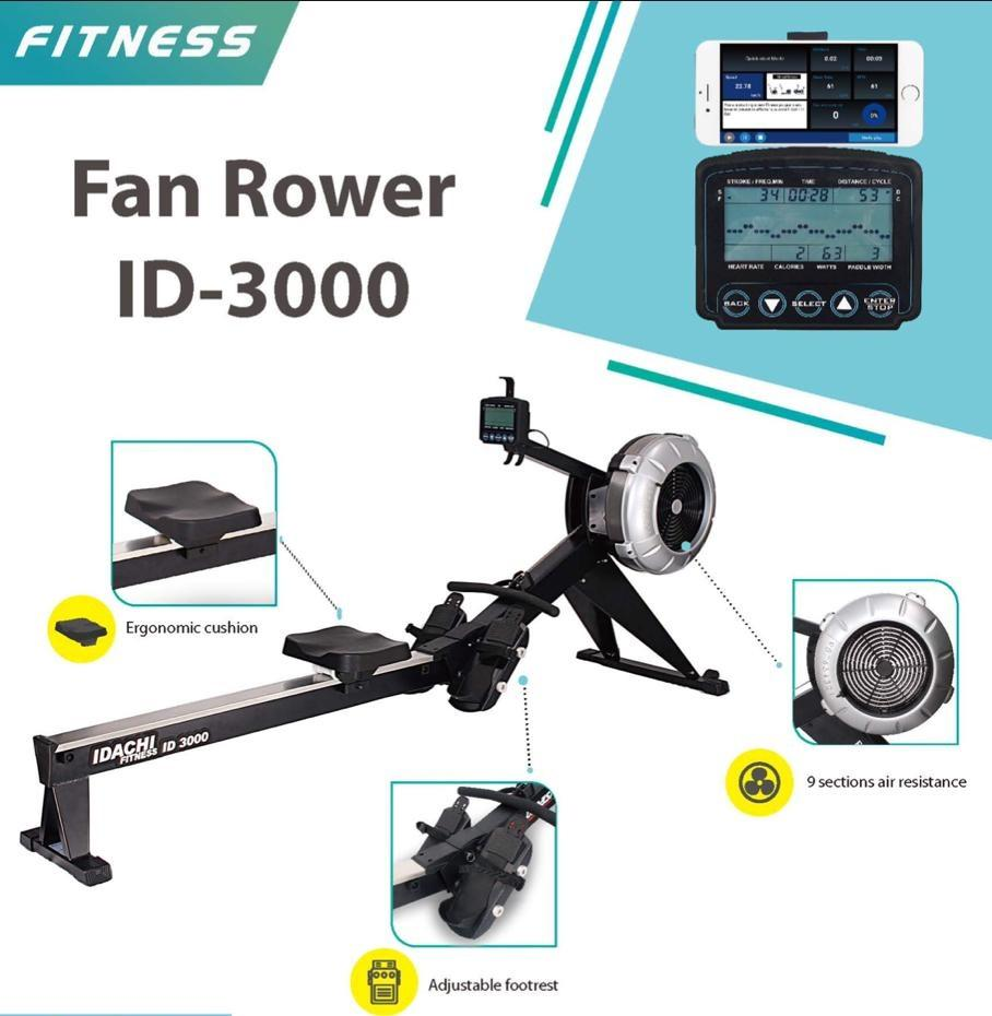 Fan Rower Alat Fitness Rowing Id 3000 By Physical Sport.