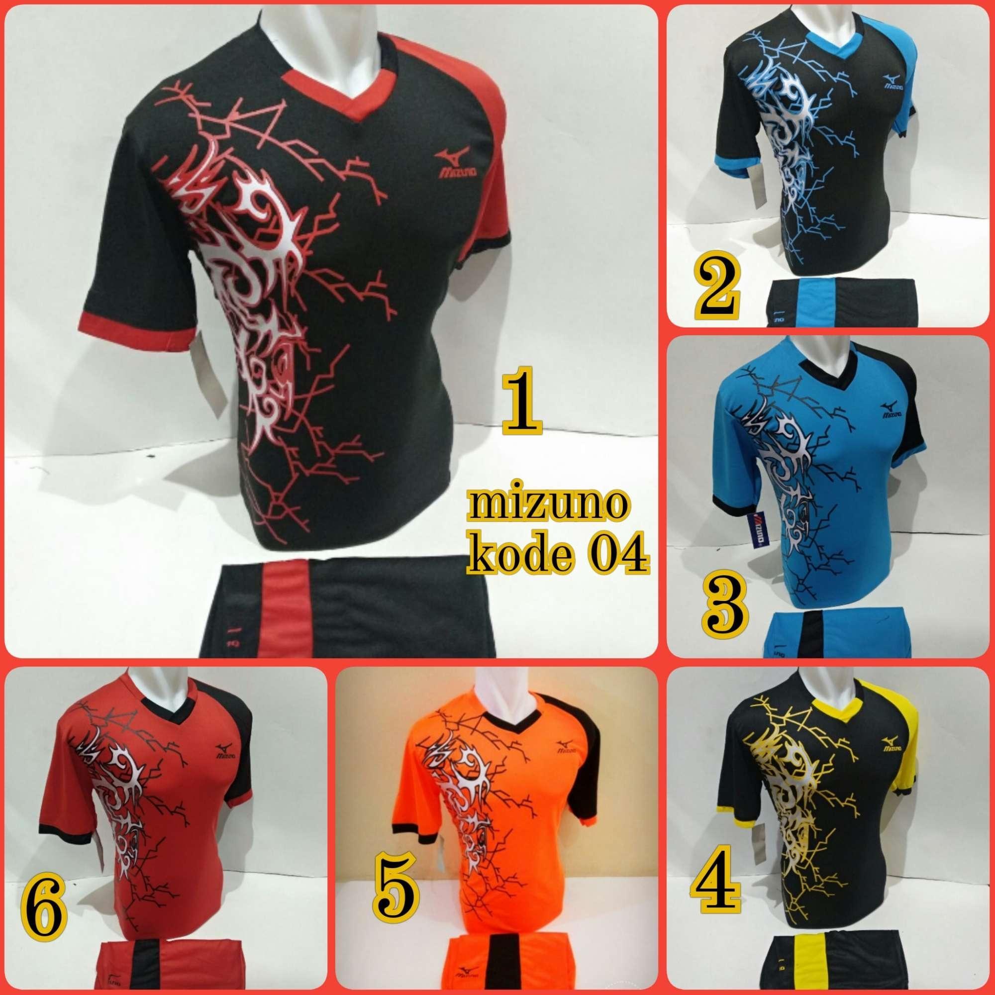 Baju Olahraga Jersey Bola Kaos Setelan Futsal Volly Voli mz 04 hitam kuning