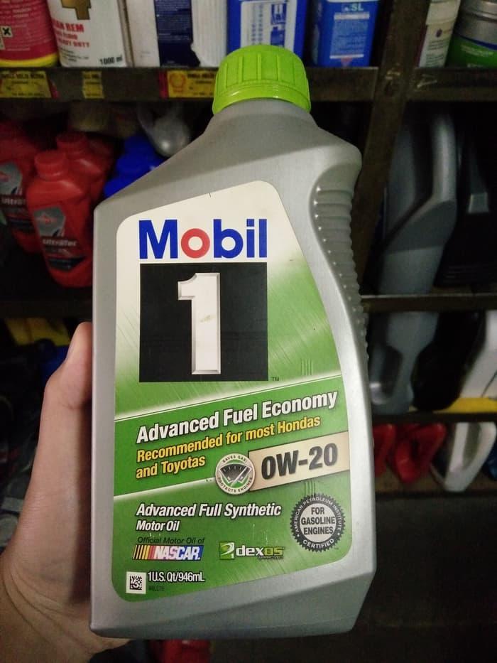 Oli Mobil 1 Fuel Economy SAE 0W-20 Advanced Full Synthetic 1 Quart USA