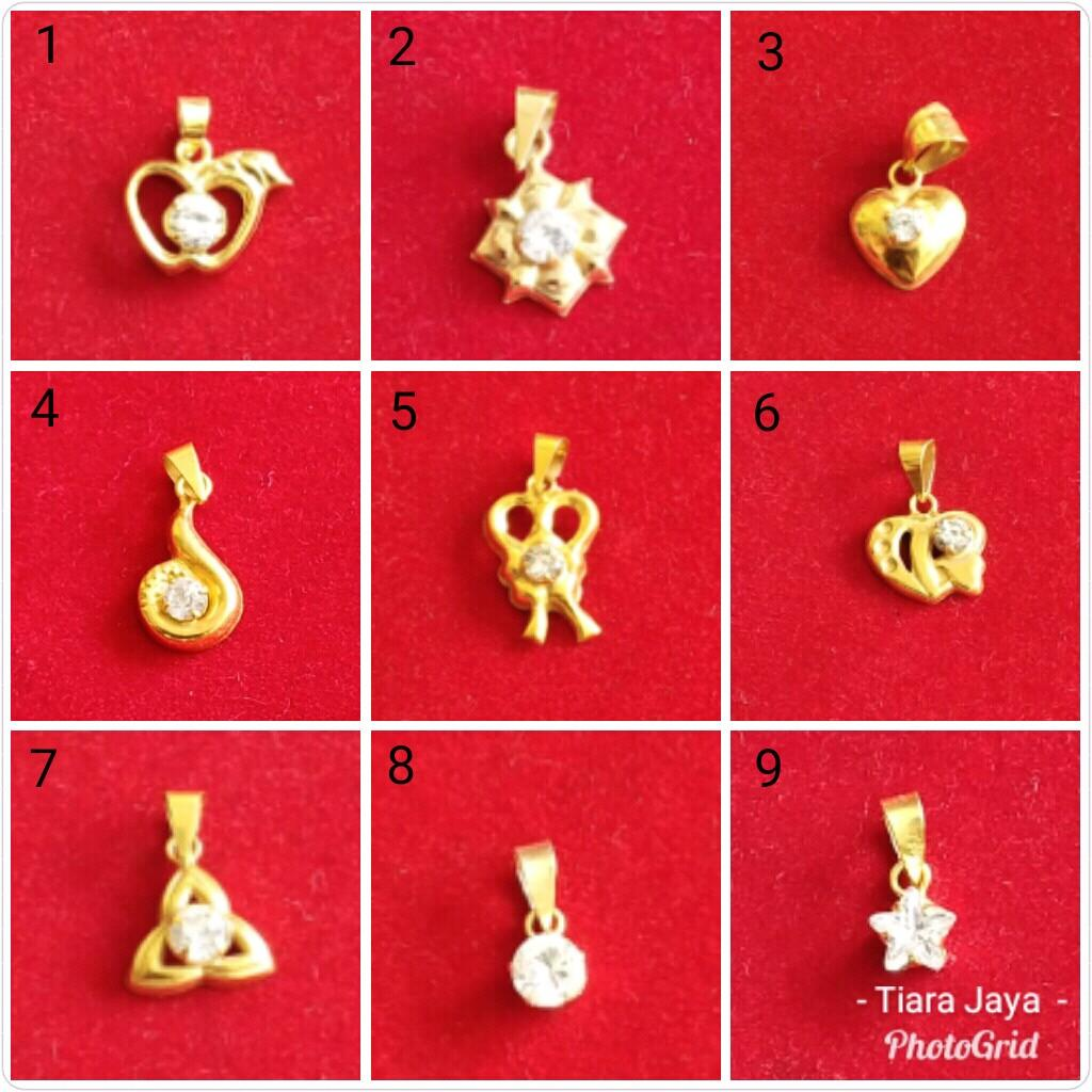 Tiara-Jaya-Mas : Liontin Model Variasi Permata Putih Mainan Permata Putih Emas Asli Kadar 700 70% Berat 0.5 Gram By Tiara Jaya Mas.