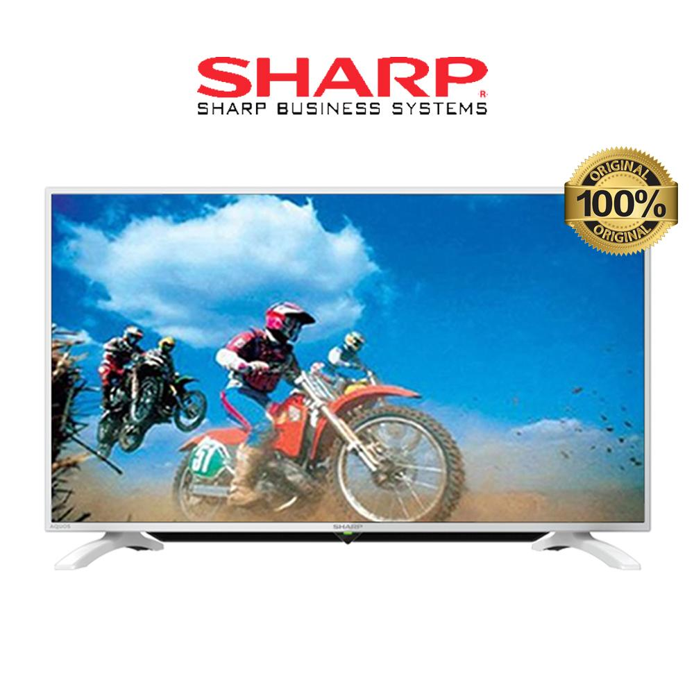 SHARP LC40LE185IWH LED TV - White [40 inch] Free Packing Kayu