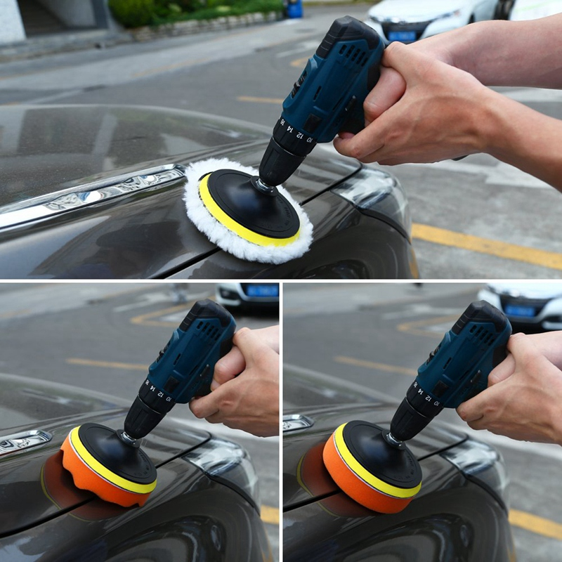 2-7/'/' inch Woolen Buffing Sponge Wool Polishing Pad for Car Auto Polisher Buffer
