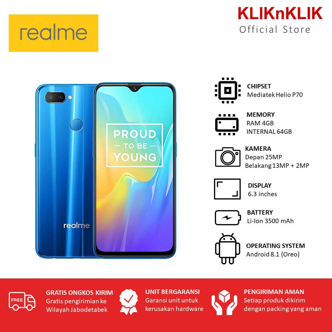 REALME U1 RAM 4GB/64GB Blue - Realme Murah