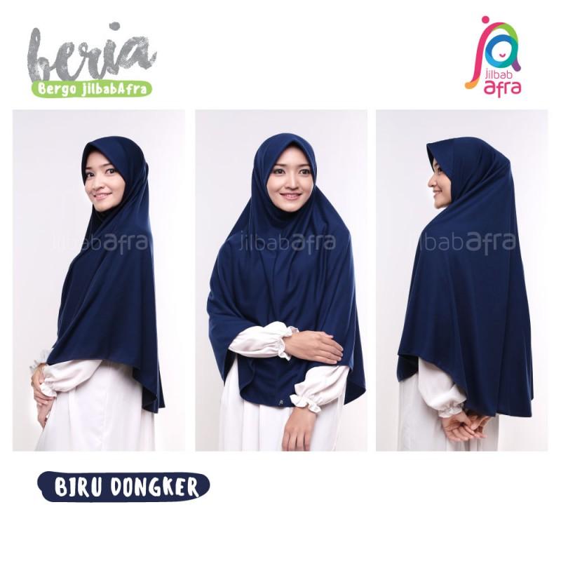 Jilbab Afra Arfa Beria Hijab Kerudung Instan Kaos Pet Bergo Standar Warna Navy Biru Dongker Lazada Indonesia