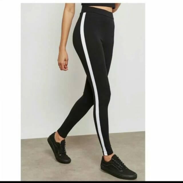 Termurah Celana Legging Strip Stripe List Lis Putih Satu Jumbo Xxl Standart List Putih Hitam Murah Grosir Leging Polos Panjang R2ajakarta Celana Korea Lis Garis Putih Leging Tebal Semua Ukuran Jumbo Legging