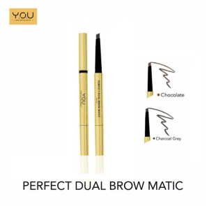 YOU THE GOLD ONE Perfect Dual Brow Matic Pensil Alis Eyebrow Pencil thumbnail