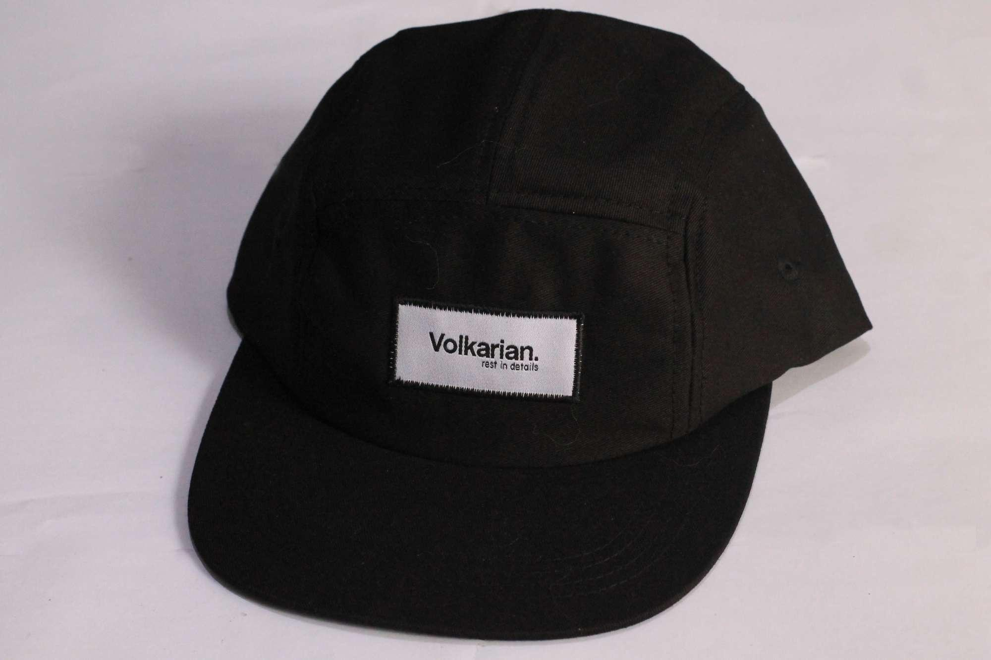 Topi five panel cap black by volkarian e88e37502c