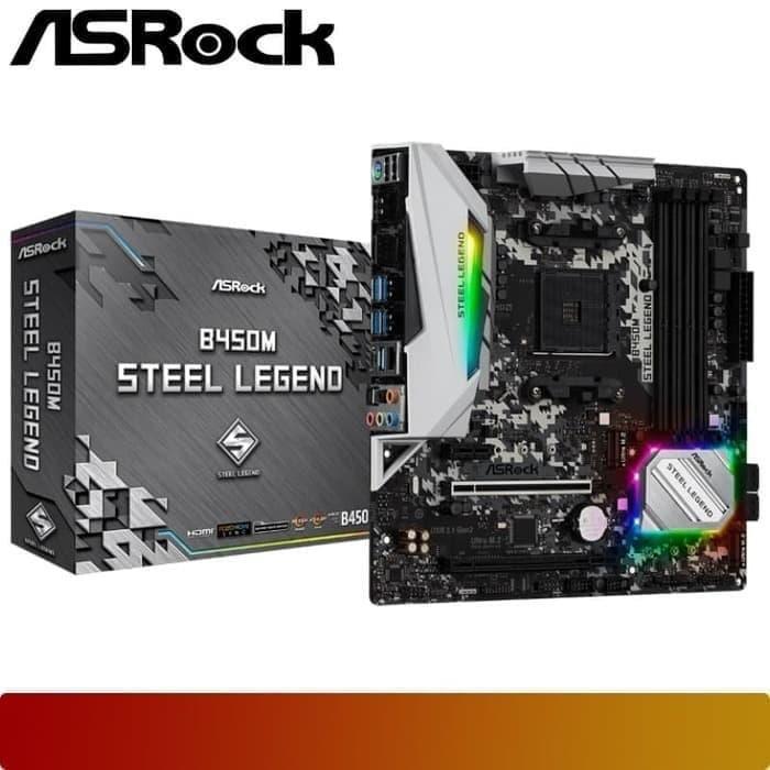Motherboard ASROCK - B450M STEEL LEGEND Ryzen AMD AM4 ATX