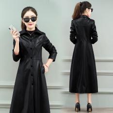 Áo khoác nữ da bóng dạng dài thời trang Hàn Quốc cao cấp