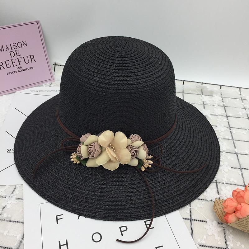 Versi Korea baru dari wanita bunga sunhat Mori gadis seri pantai topi matahari di luar ruangan