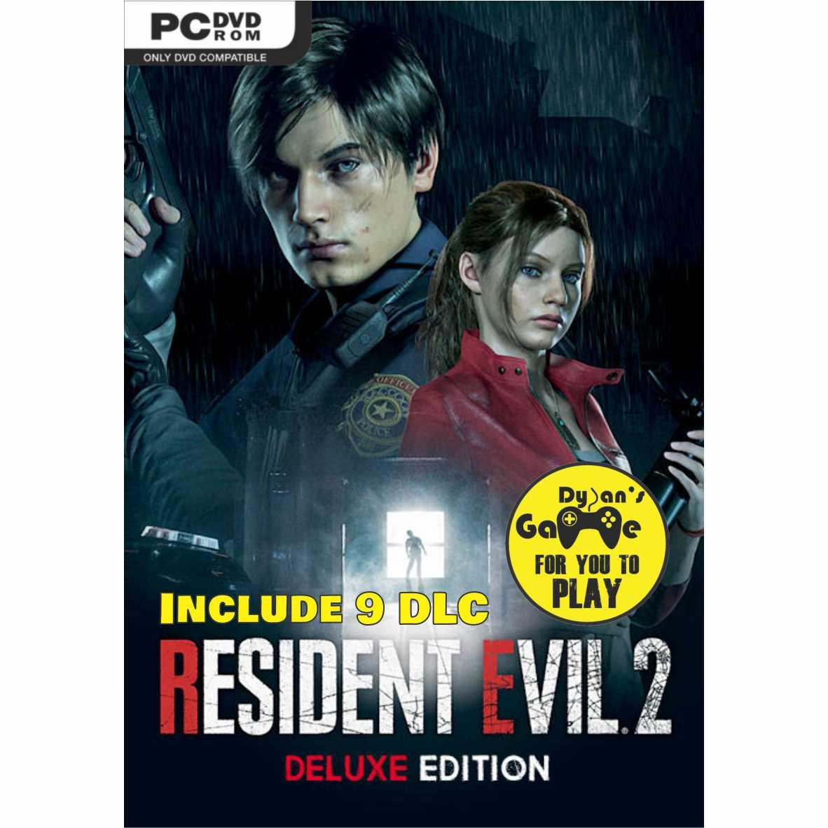 Resident Evil 2 Remake Deluxe Edition Game Pc, Dvd Game Pc By Dylansgame.
