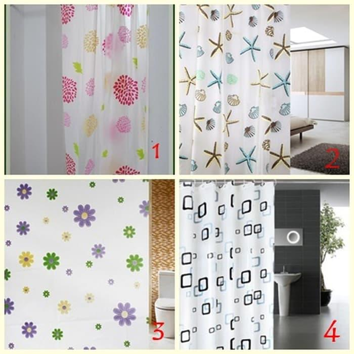 Royalshop - Tirai Shower Kamar Mandi Shower Curtain Size 180x200 Tirai Motif By Royalshop.