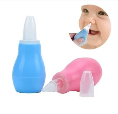 Alat Penyedot Ingus Bayi Alat Pembersih Hidung Bayi Anak Sedotan Ingus Bayi Anak Sedot Cairan Ingus Bayi  Baby Nose Cleaner Nasal Aspirator - Random Color