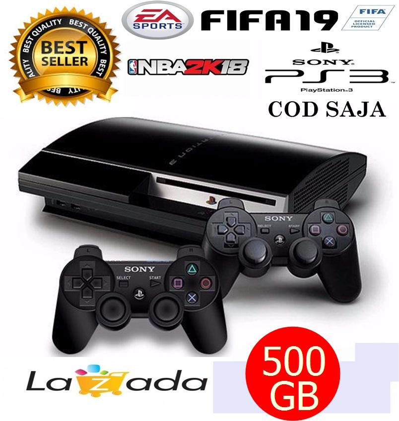 ps3 fat hardisk 500gb 2 stick ~ 40 game terbaru