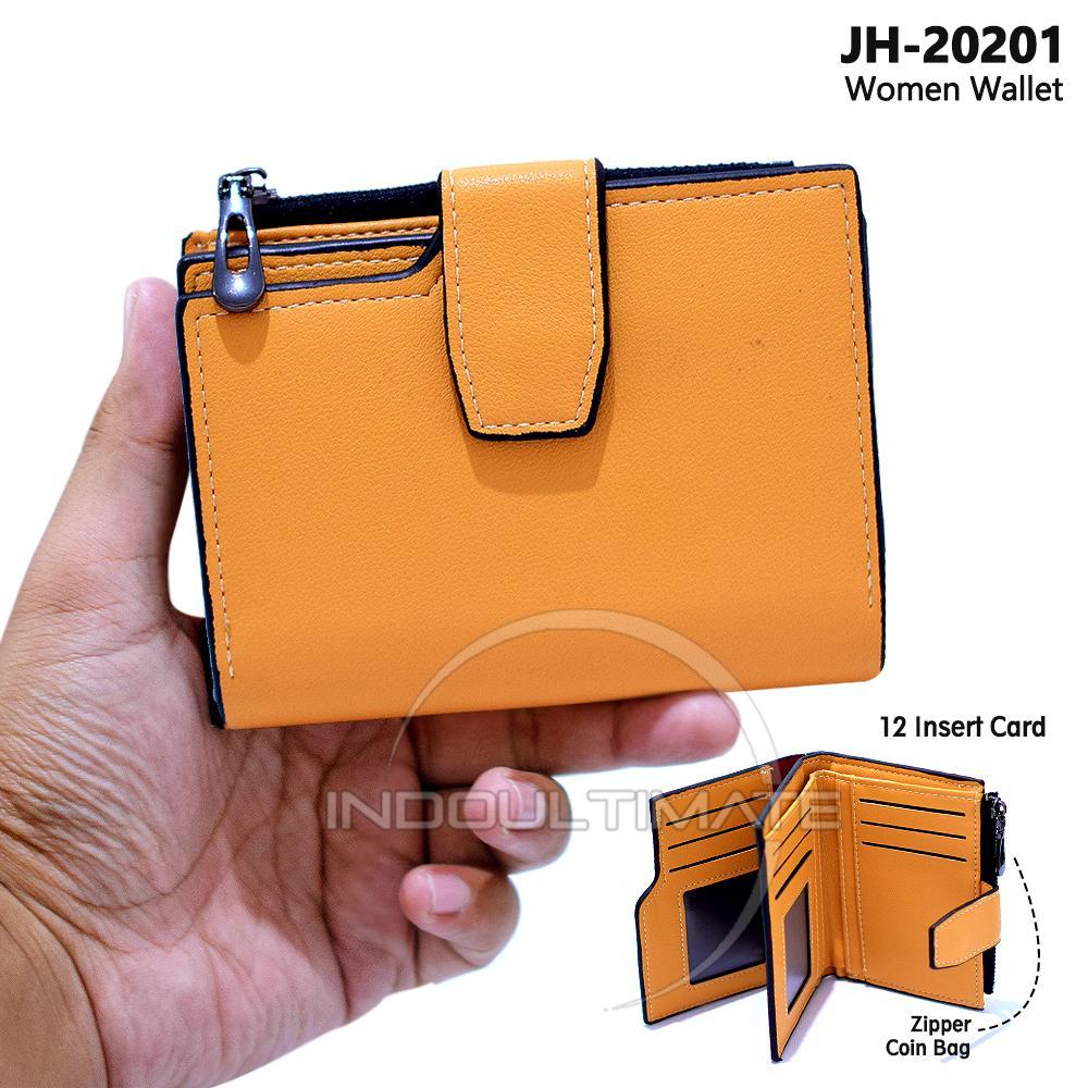 Ultimate Dompet Lipat Wanita / Dompet Wanita Pendek / Dompet Pendek Wanita  / JH-20201 / Dompet Cewek / Cewe Kartu ATM Panjang Lipat Kulit Import Murah Lucu