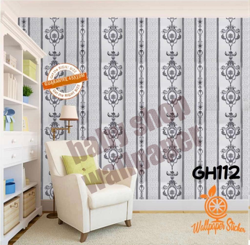 Wallpaper Stiker Dinding PVC - Self Motif Dan Karakter Premium Quality Size 45cm X 10M Batik Terbar