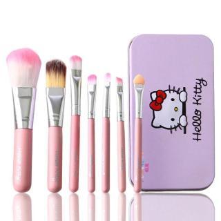 Kuas Make up HK Set 7 in 1 Brush Hello Kitty Set thumbnail