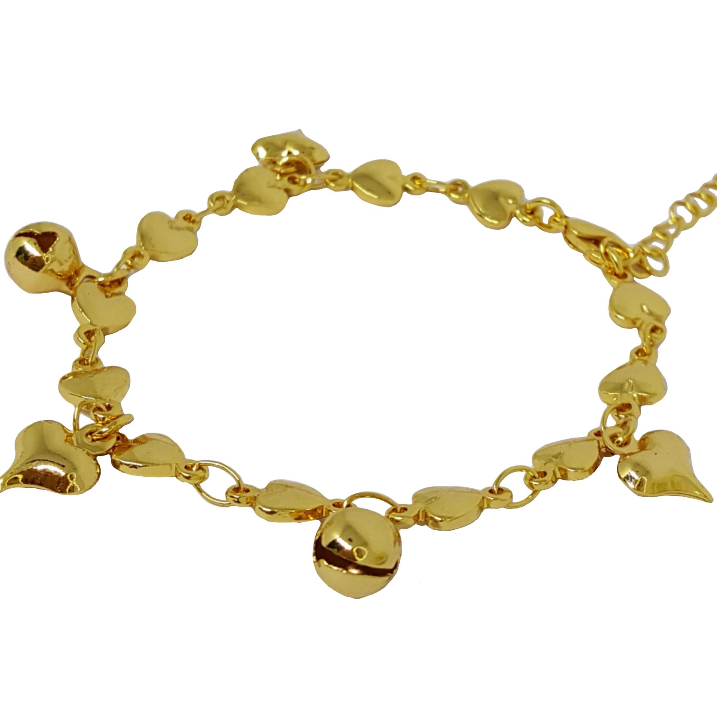 PGX NEW M001 Gelang Kaki Anak Bayi Kerincing Perhiasan Imitasi Xuping Lapis Emas