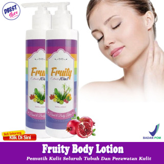 Fruity Hand Body Lotion Fruitamin 10in1 Fruity Lotion Frutamin - Lotion Pemutih Badan Pemutih Kulit Seluruh Tubuh - 250ml thumbnail