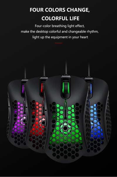 Skatolly V18 Professional Gaming Wired Mouse Wired Gaming mice Work Hole Hollow Universal mice for Desktop Computer Notebook mouse Malaysia