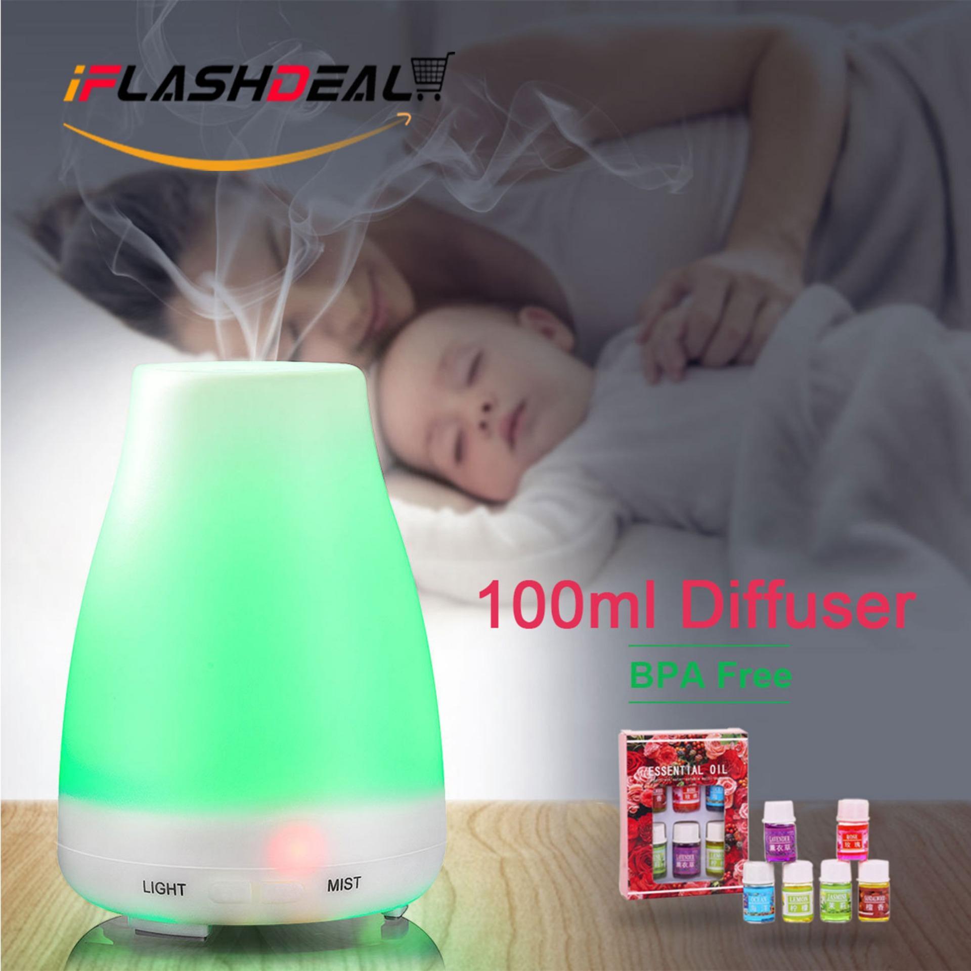 iFlashDeal Ultrasonik Aroma Diffuser Air Humidifier Aromaterapi Diffuser minyak Esensial Pembersih Udara Keren Mist Cukup Desain