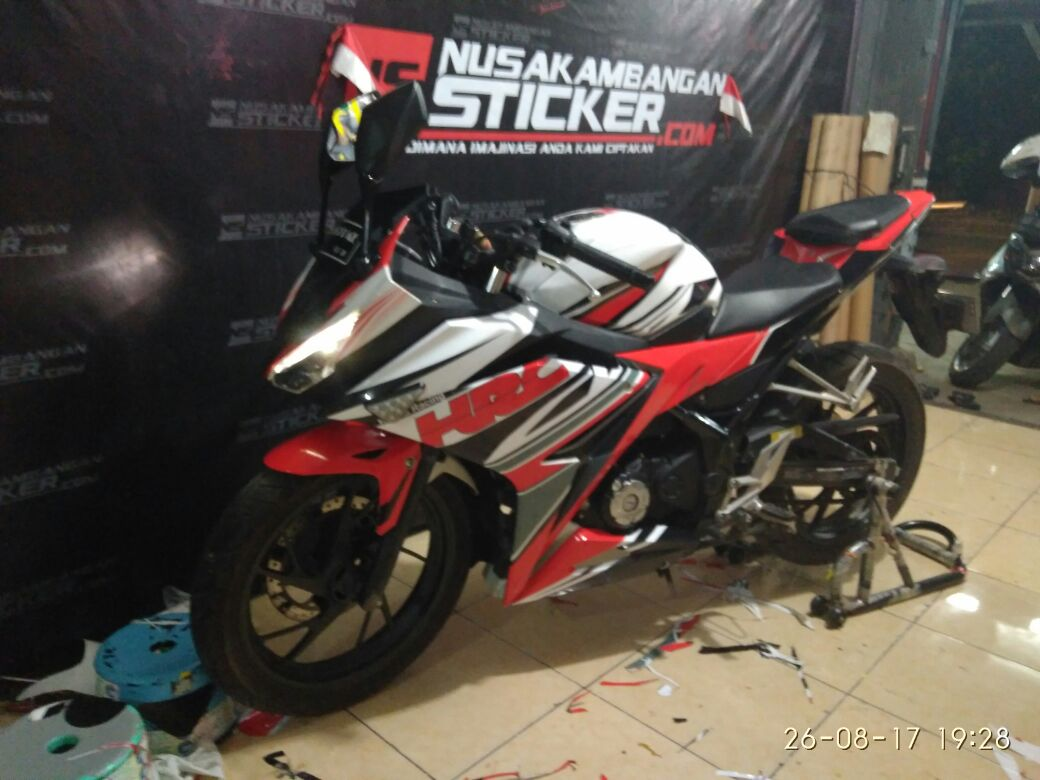 Decal Stiker CBR 150 R All New HRC Merah Nusakambangan Sticker