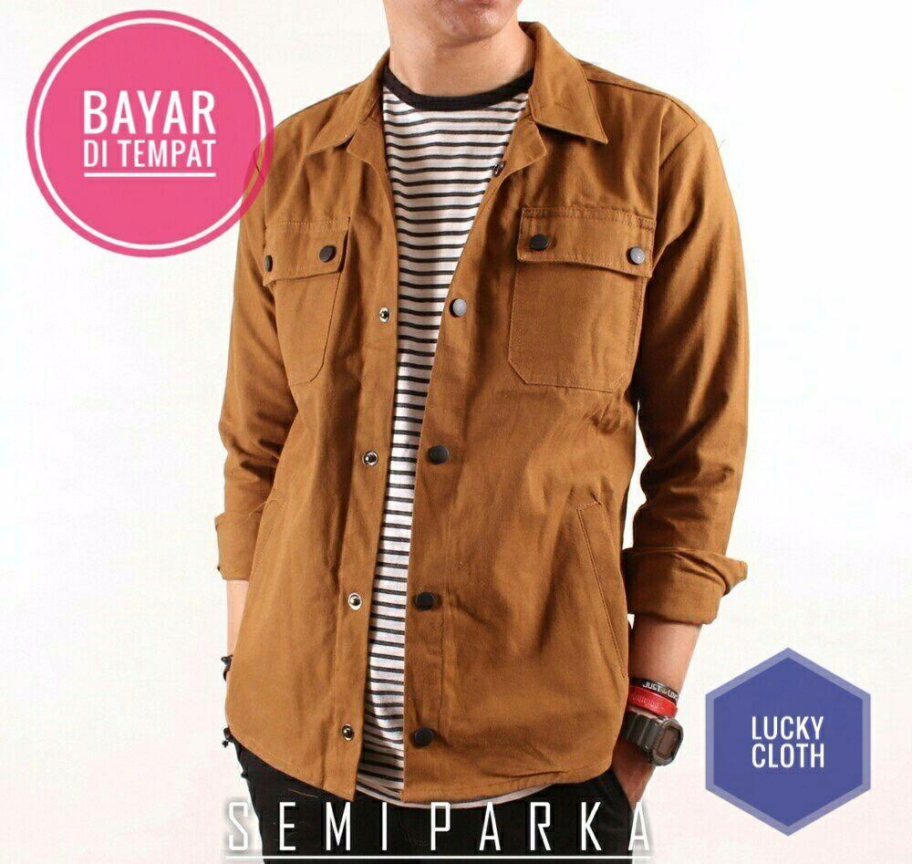 Jaket Semi Parka Brown Best Seller Lucky Cloth - Jaket Casual Jaket Parka Jaket  Jeans Jaket Anime c6c4900a73