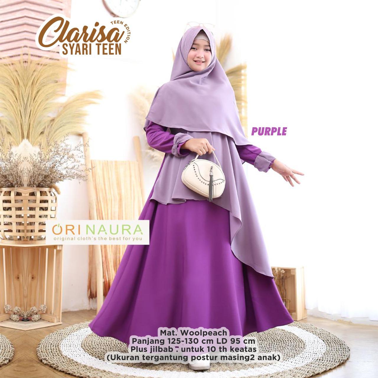 Clarisa Syari Teen Gamis Anak Perempuan Gamis Anak Perempuan 10 Tahun Baju Muslim Anak Perempuan Gamis Syari Lazada Indonesia