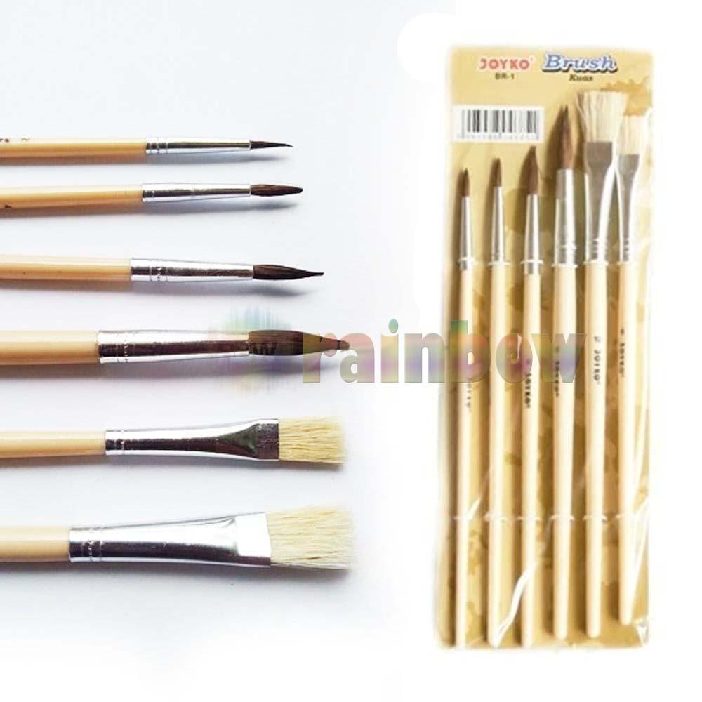 Joyko Kuas Lukis Cat Air Kuas Nail Art Brush Set 6 BR-1 Kuas Cat