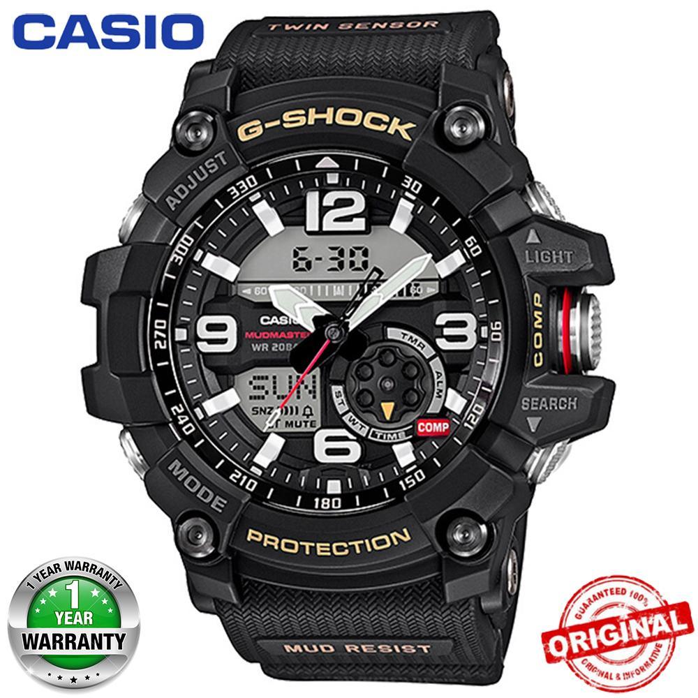 (Ready Stock) G-Shock GG1000 MUDMASTER Pria Watch Duo W / Waktu 200M Tahan Air Shockproof dan Tahan Air Dunia Waktu Kompas Termometer Olahraga Perhiasan LED Auto Cahaya Wist Sport Jam Tangan untuk Pria dengan Garansi 1 Tahun GG-1000-1A