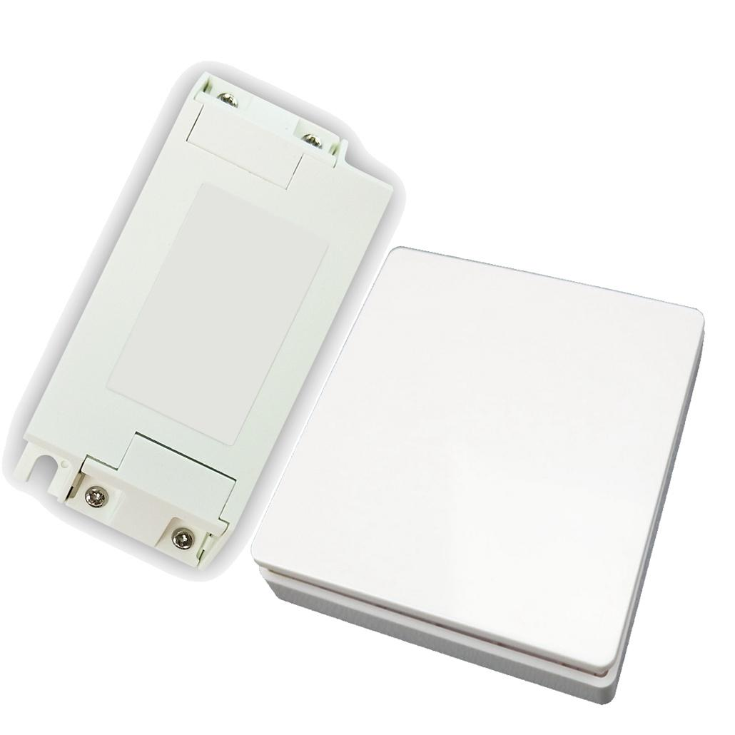 Wireless Wall Light Switch Kit, Remote Light Switch - No Battery No Wiring, Self-Powered Switch Remote Control