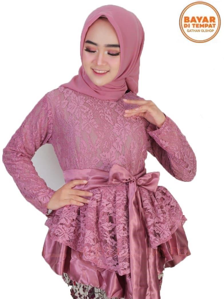 ATASAN Kebaya KINANTI Modern Hijab Remaja Style Modis Cantik Brokat/ATASAN kebaya batik / Kebaya