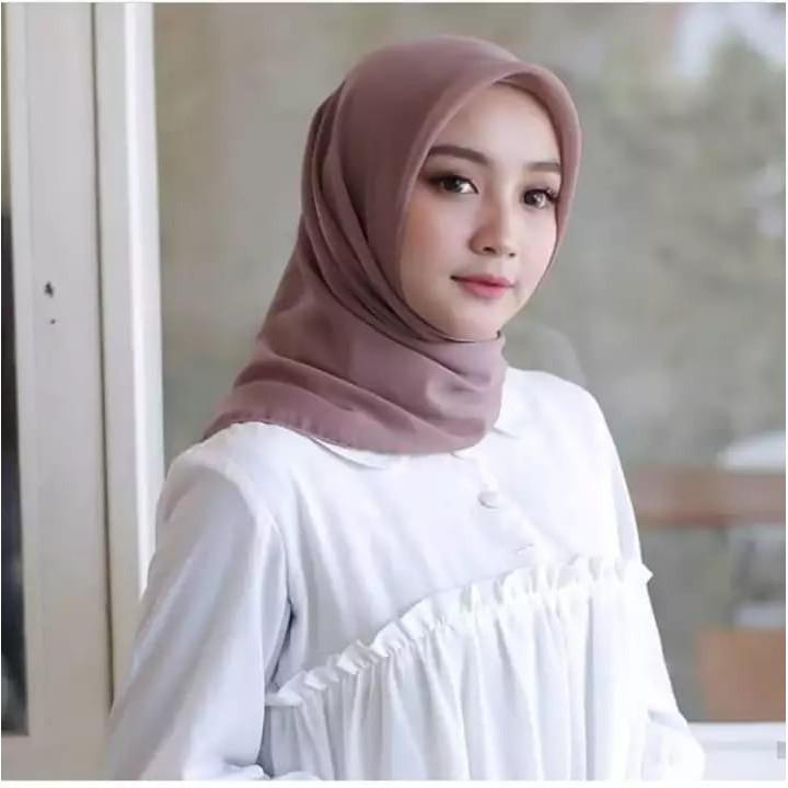 Good Quality Kerudung Segiempat Polos Bella Square Hijab Pollycotton Jilbab Bela Grosir Lazada Indonesia