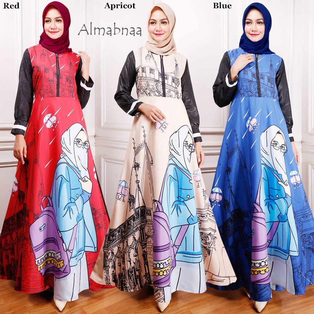 gamis hijab FREE HIJABNYA by wholesale_tanah_abang