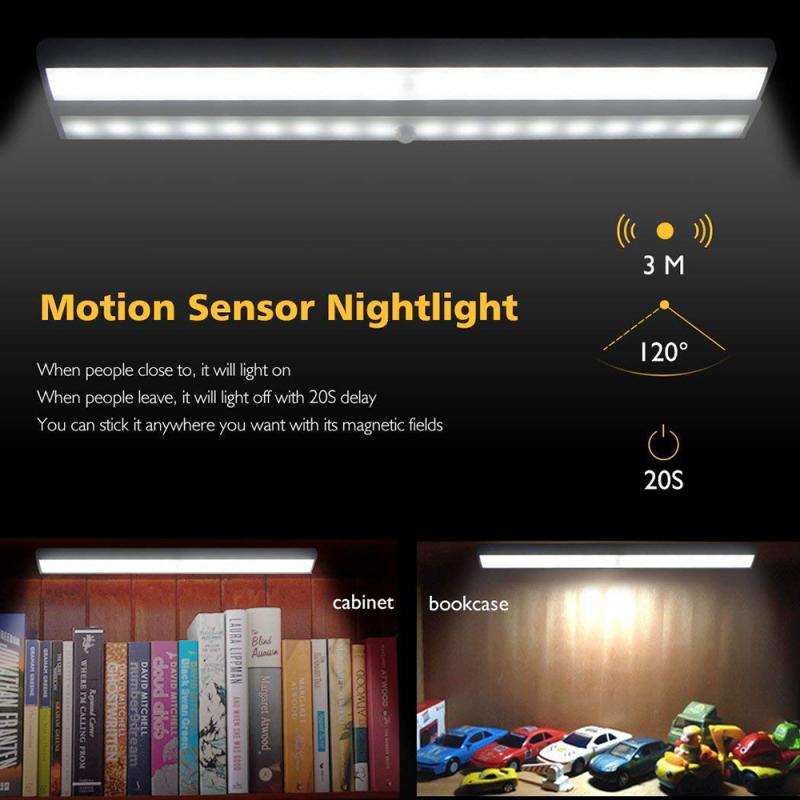 Aabest 1 PC 10 Đèn Hạt Đèn LED Cảm Ứng Với Tủ Đồ Cảm Biến Chuyển Động Đèn Ngủ Không Dây Thanh Tẩy Trang-Trên Cơ Thể Cảm Biến Ánh Sáng Cảm Ứng Cơ Thể Con Người Đèn Gắn Tủ Chiếu Sáng Ban Đêm