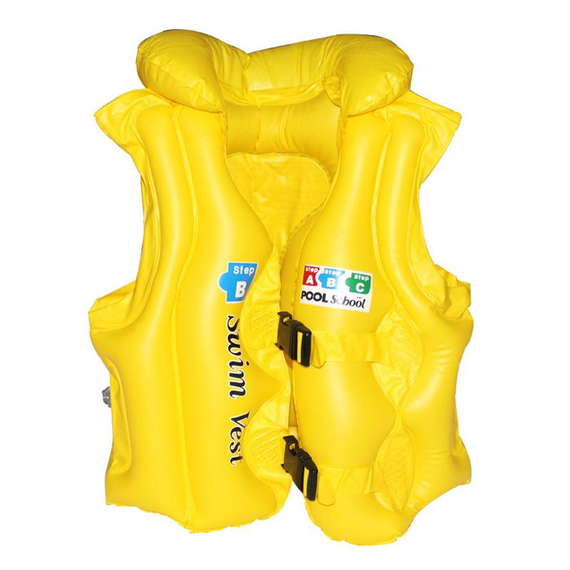 Kids Inflatable Thicken Lifejacket Float Vest For Swimming By Fashion Cabinet.