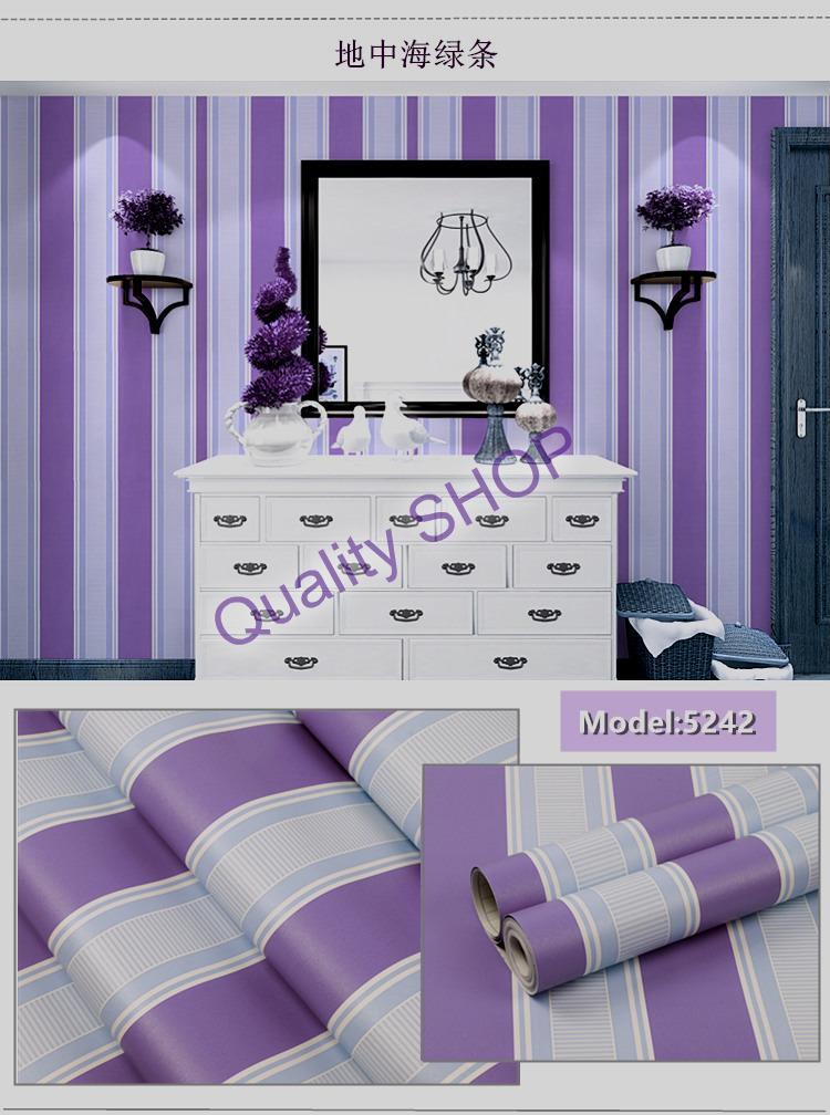 Wallpaper Stiker Dinding Motif Dan Karakter Premium Quality Size 45cm X 10m Salur Ungu Gh127 Lazada Indonesia