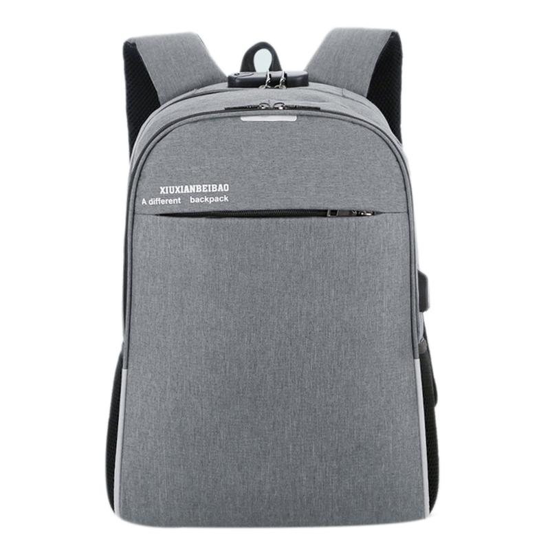 Laptop Backpack Usb Charging 15.6 Inch Anti Theft Waterproof Large Capacity Notebook Bag With Coded Lock