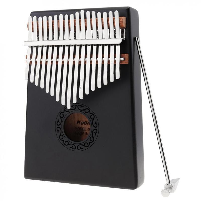 17 Key Black Single Board Mahogany Thumb Piano Mini Keyboard Instrument with Complete Accessories Malaysia