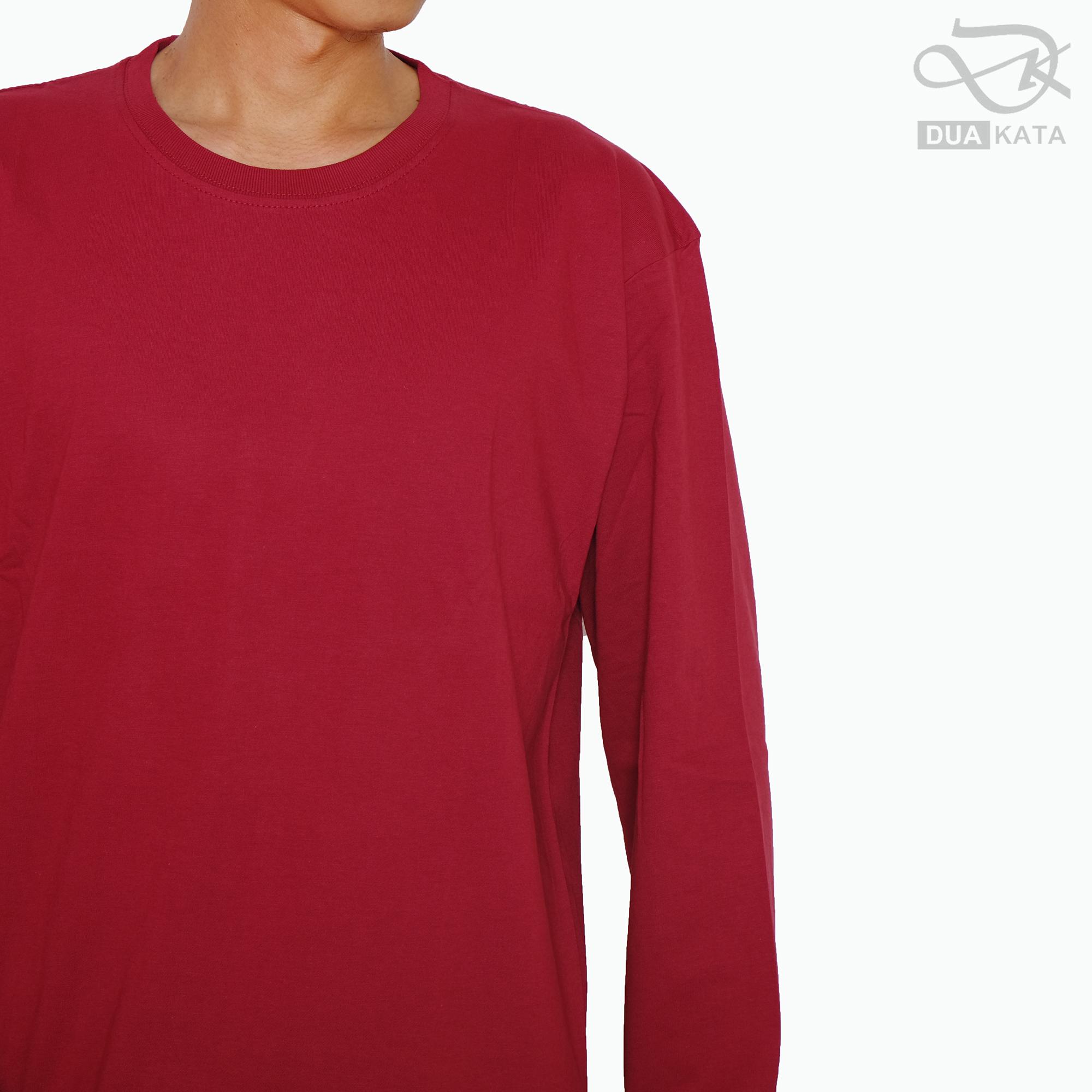Kaos Polos Maroon Unisex Lengan Panjang Cotton Combed 30s Kaos Pria Dan Wanita Lazada Indonesia