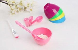 KSR- (COD) Mangkok Masker Set 4 in 1 Kuas Alat Make Up Mask Bowl Mask Tool thumbnail