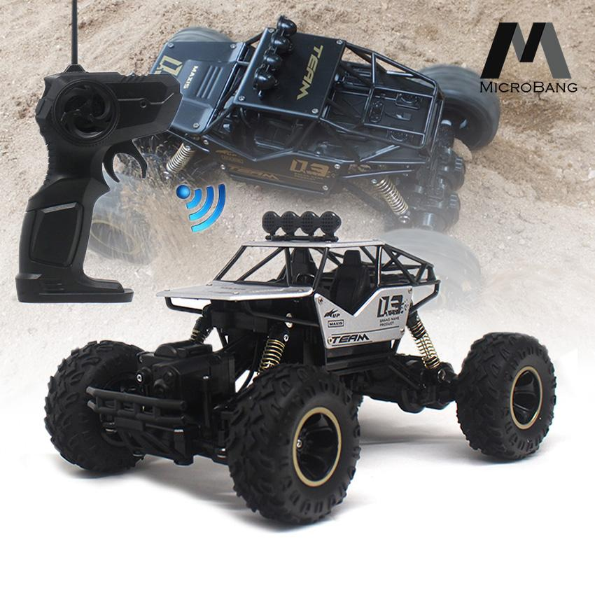 MicroBang Electric RC Vehicle Rock Crawler Alloyed RC Car Remote Control  Toy Cars Radio Controlled Drive Off-Road Truck 4 Wheels Drive SUV Buggy Car