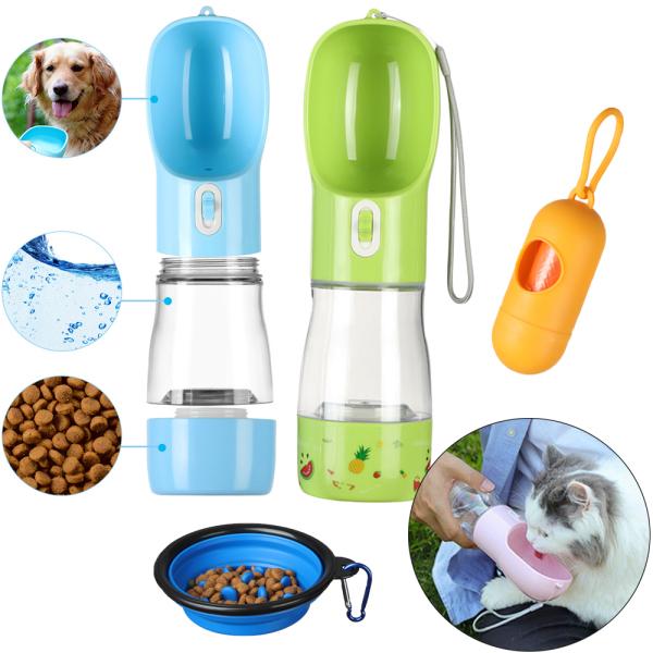 ACCLAIM Du lịch Cốc nước Ngoài trời Cat Slow Feeder Bowl Thùng lưu trữ Máy rút thức ăn cho chó con Chai nước uống cho thú cưng Bình nước cho chó