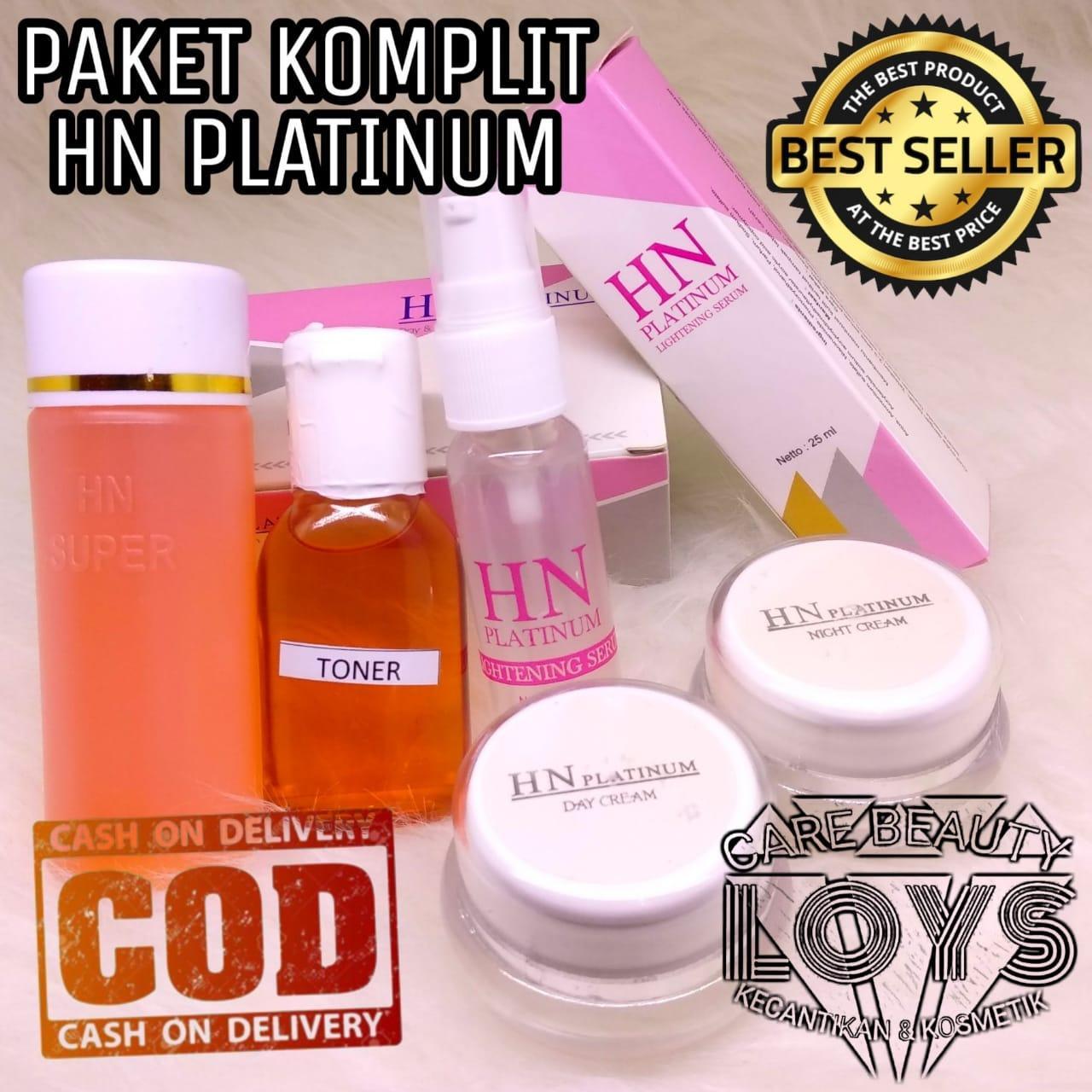 Hn Platinum Komplit Paket Hn Platinum Cream Siang Malam Sabun Serum Toner Original Bpom Cream Hn Pemutih Wajah Lcbeauty Lazada Indonesia
