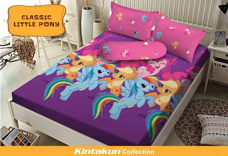 Sprei Kintakun Dluxe Plat King Bantal 2 180x200 Classic Little Pony